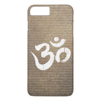 Altes verkratztes OM-Symbol-Yoga iPhone 7 Plus Hülle