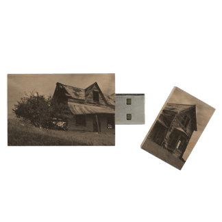 Altes verlassenes Haus 1 Holz USB Stick