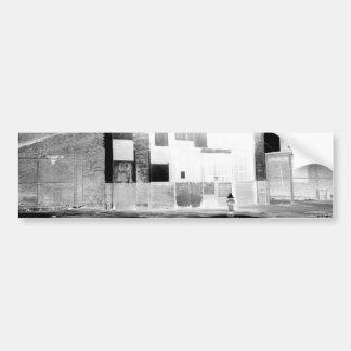 Altes Verzicht-Gebäudenegativ Autoaufkleber