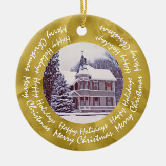 Altes viktorianisches Haus - Zuhause für die Keramik Ornament