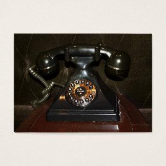Altes Vintages anwählbares Telefon Visitenkarte
