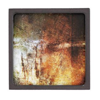 altes Vintages rostiges braunes Kunstbrand-Rauch P Schachtel