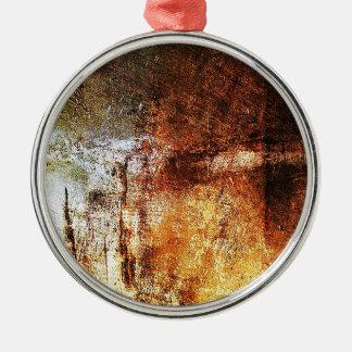 altes Vintages rostiges braunes Kunstbrand-Rauch Silbernes Ornament