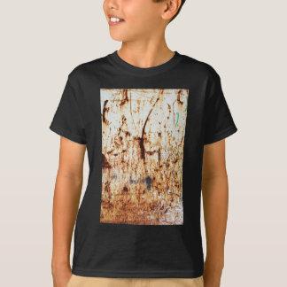 altes Vintages rostiges braunes Kunstbrand-Rauch T-Shirt