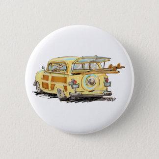 altes waldiges runder button 5,7 cm