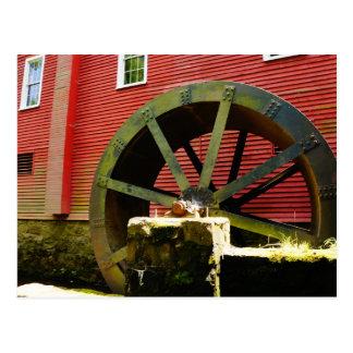 Altes Wasser-Rad an Kirbys Mühle Postkarte