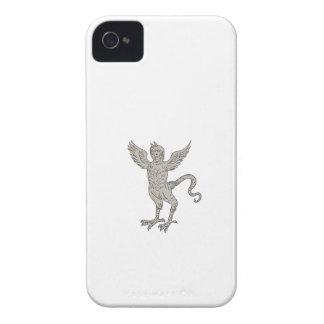 Altes Winged Monster-Zeichnen iPhone 4 Case-Mate Hüllen