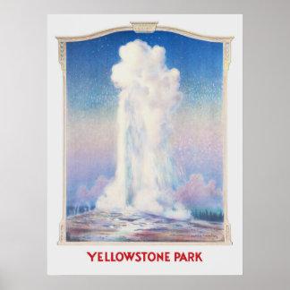 Altes zuverlässiges Plakat Yellowstone