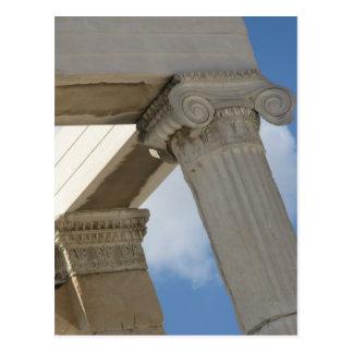 Altgriechische Architekturspalten Postkarte