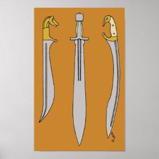 Altgriechische Blätter Poster
