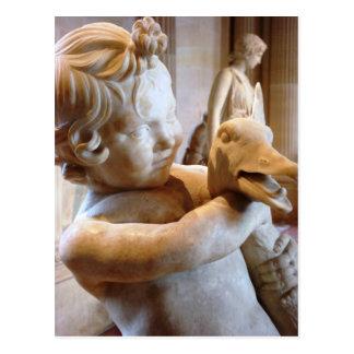 Altgriechischer Junge mit Gans Postkarte