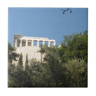 Altgriechischer Parthenon von fern Kleine Quadratische Fliese