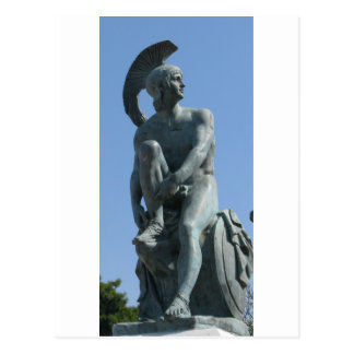 Altgriechischer Soldat in klassischem Griechenland Postkarte