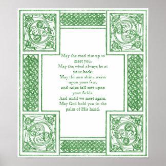 Altirisch, das in den keltischen Knoten segnet Poster
