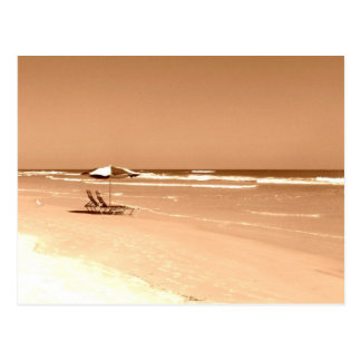 Altmodische Daytona- Beachphotographie Postkarte