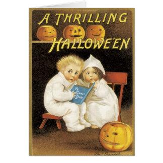 Altmodische Halloween-Gespenstergeschichte-Kinder Karte