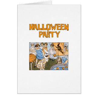 Altmodische Halloween-Party-Einladungen Karte