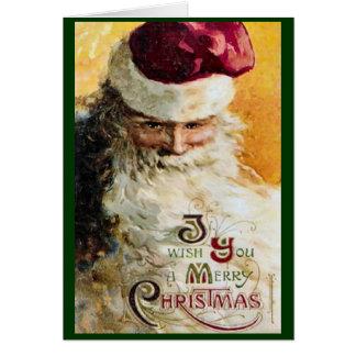 Altmodische klassische Sankt-Weihnachtskarte Karte