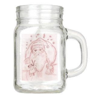 Altmodische Sankt in der Moosbeere Einmachglas