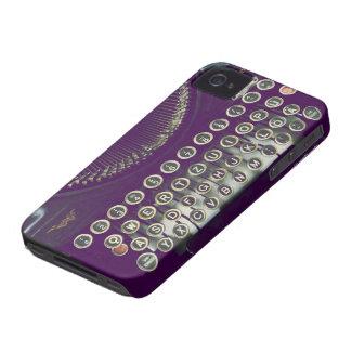altmodische Schreibmaschine iPhone 4 Case-Mate Hüllen