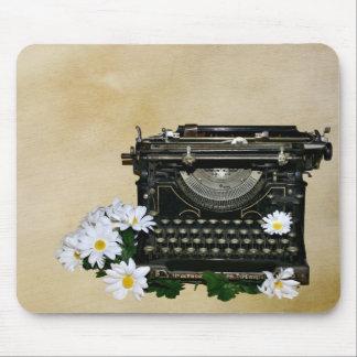Altmodische Schreibmaschine Mousepad