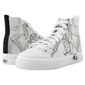 Altmodische Skater Hoch-geschnittene Sneaker