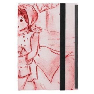 Altmodische Skater im Rot iPad Mini Etui