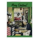 Altmodische Vintage Zuhause-Weihnachtskarte Grußkarten