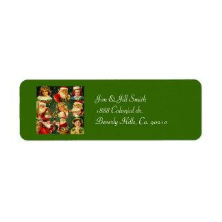 Altmodische Weihnachtsmädchen u. -sankt