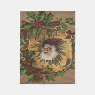 Altmodische Weihnachtsmann-Antike Fleecedecke