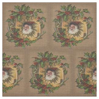 Altmodische Weihnachtsmann-Antike Stoff