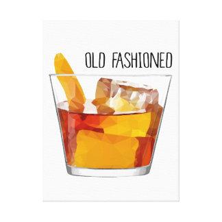 Altmodische Whisky-Mischgetränk-Cocktail-Kunst Leinwanddruck