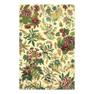 Altmodischer Blumenüberfluß Briefpapier