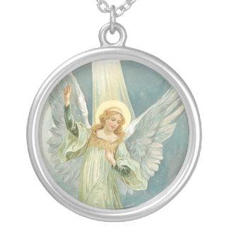 Altmodischer Engel Gloria Versilberte Kette