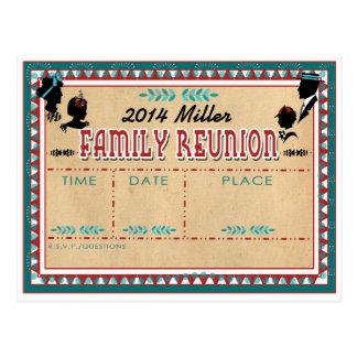 Altmodisches Familien-Wiedersehen - Postkarte