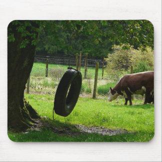 Altmodisches Land-Reifen-Schwingen Mousepad