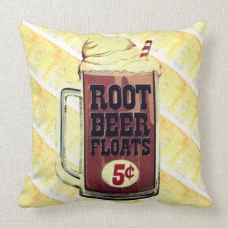 Altmodisches Root Beer-Floss-Kissen Kissen