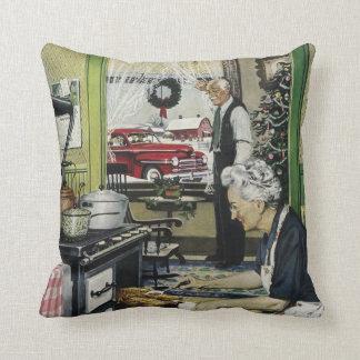 Altmodisches Vintages Zuhause-Küchen-Weihnachten Kissen