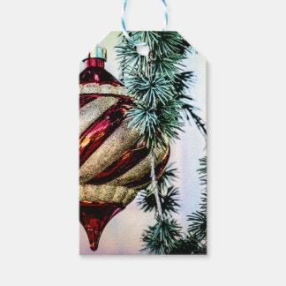 Altmodisches Weihnachten Geschenkanhänger