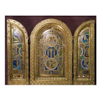 Alton ragt Triptychon, c.1150 hoch Postkarte