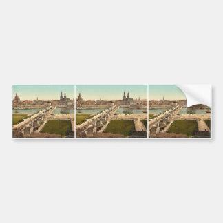 Altstadt, Dresden, gesehen vom Ministerium des Kri Auto Sticker