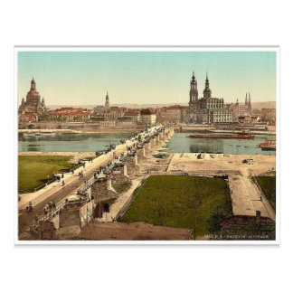 Altstadt, Dresden, gesehen vom Ministerium des Postkarten
