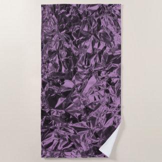 Aluminiumfolie-Entwurf im Lavendel Strandtuch