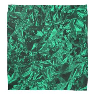 Aluminiumfolie-Entwurf in aquamarinem Kopftuch
