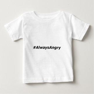 #AlwaysAngry-Logo-schwarz Baby T-shirt