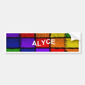ALYCE (weibliche Namen) Autoaufkleber