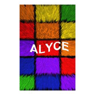 ALYCE (weibliche Namen) Briefpapier