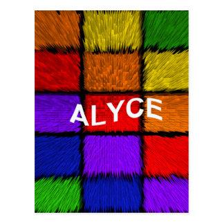 ALYCE (weibliche Namen) Postkarte
