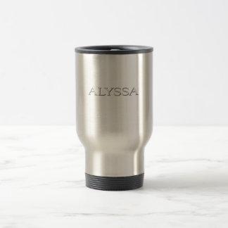 Alyssa Gewohnheit angehobene Beschriftung Kaffee Tassen
