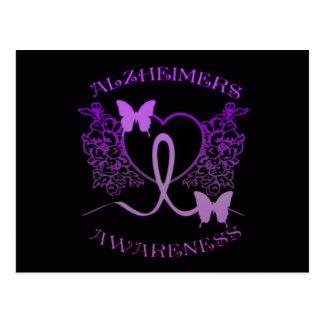 Alzheimers Bewusstseins-lila Postkarte